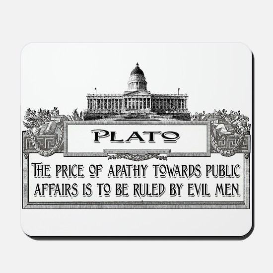 PLATO SPEAKS Mousepad