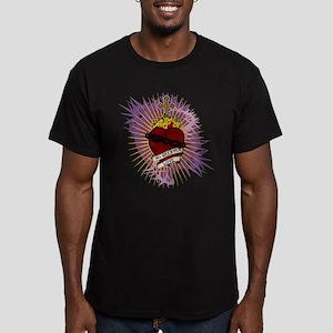 Sacred Heart Men's Fitted T-Shirt (dark)