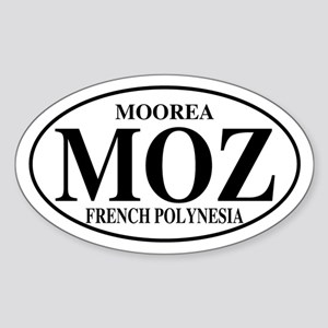 MOZ Moorea Oval Sticker