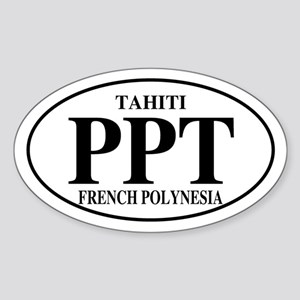 PPT Tahiti Oval Sticker