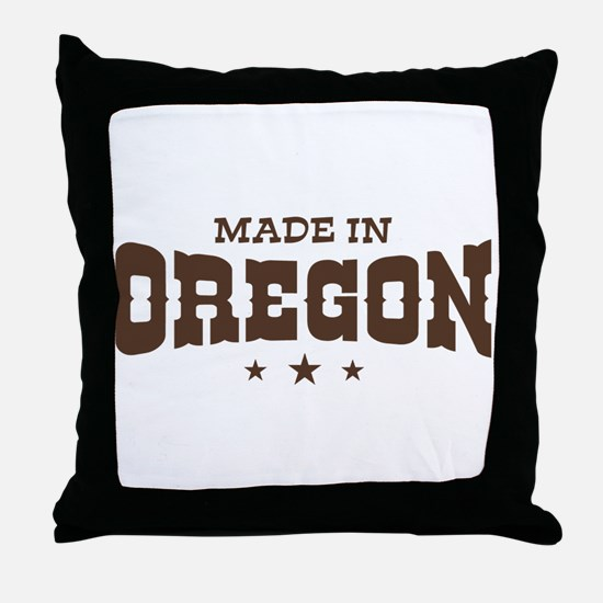 Made in Oregon Throw Pillow