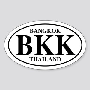 BKK Bangkok Oval Sticker