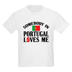 Somebody In Portugal Kids T-Shirt