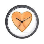 Heart Shaped Cleavage Wall Clock