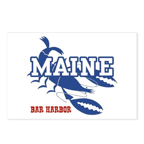 Maine Bar harbor Postcards (Package of 8)