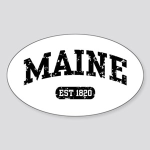 Maine Est 1820 Oval Sticker