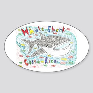 Whale Shark Oval Sticker