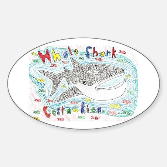 Whale Shark Oval Decal