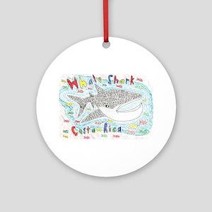 Whale Shark Ornament (Round)
