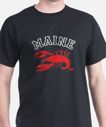 Maine Lobster Black T-Shirt