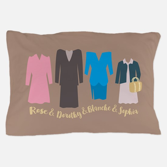 Golden Girls Outfits Pillow Case