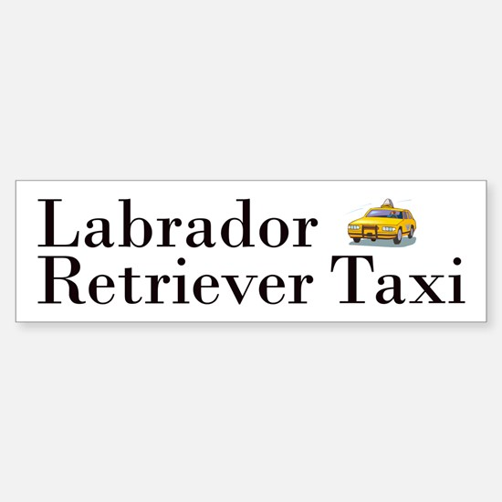 Labrador Retriever Taxi Sticker (Bumper)