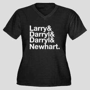 Larry & Darryl & Darryl Women's Plus Size V-Neck D
