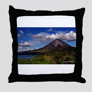 Volcan Arenal Throw Pillow