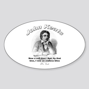 John Keats 06 Oval Sticker