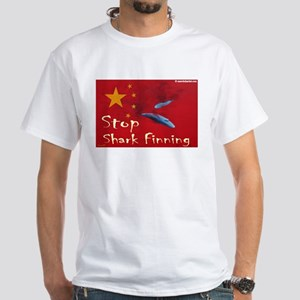 White T-Shirt anti shark finning 2