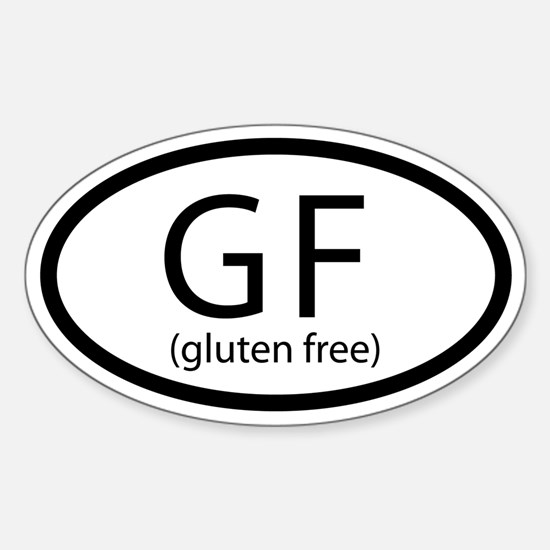 Gluten Free Car Sticker (Oval)