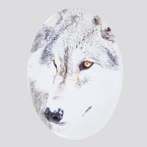 Wolf Pup Ornament (Oval)