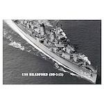 USS BRADFORD Large Poster
