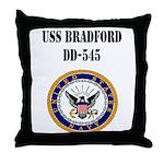 USS BRADFORD Throw Pillow