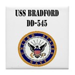 USS BRADFORD Tile Coaster