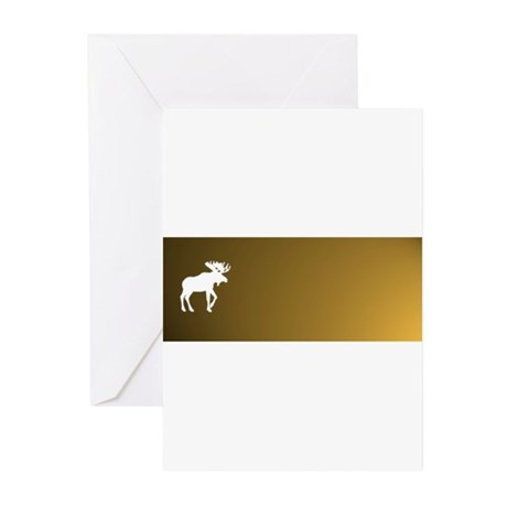 Moose Designs by L Harlow Greeting Cards (Pk of 10