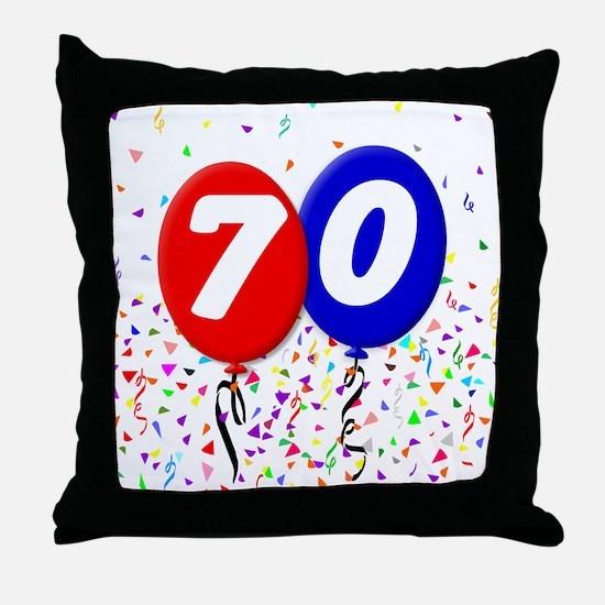 70th Birthday Throw Pillow