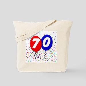 70th Birthday Tote Bag