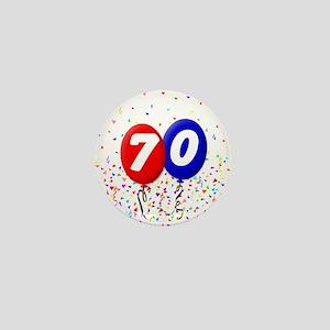 70th Birthday Mini Button