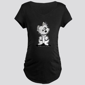 Zombie Westie Dog Maternity Dark T-Shirt