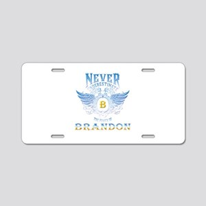 brandon Aluminum License Plate