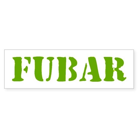 FUBAR Sticker (Bumper)