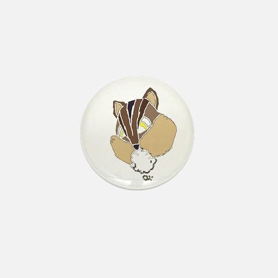 Rabid Chipmunk Mini Button