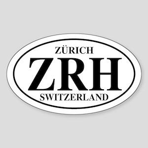 ZRH Zurich Oval Sticker