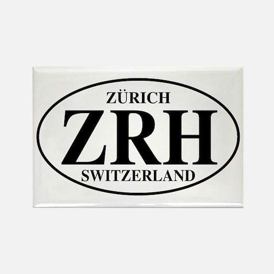 ZRH Zurich Rectangle Magnet