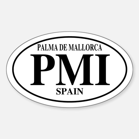 PMI Palma De Mallorca Oval Decal