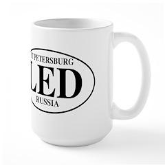 LED St Petersburg Large Mug