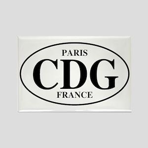 CDG Paris Rectangle Magnet