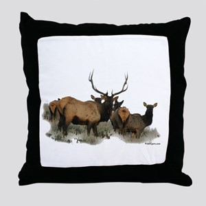 Monster elk deer Throw Pillow