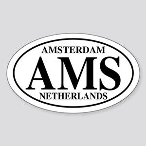 AMS Amsterdam Oval Sticker