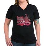 Team Svelte Women's V-Neck Dark T-Shirt