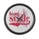 Team Svelte Large Wall Clock