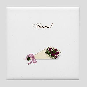 """""""Bravo"""" Bouquet Tile Coaster"""