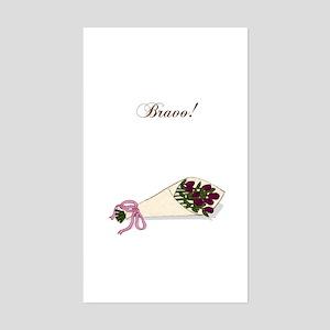 """Bravo"" Bouquet Rectangle Sticker"