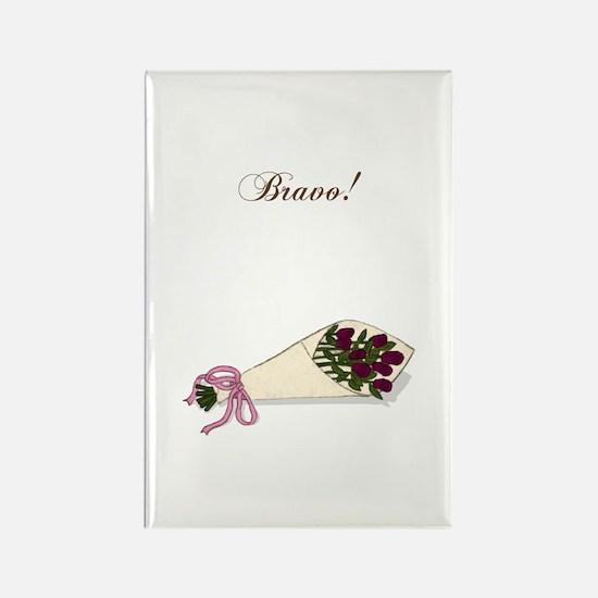"""""""Bravo"""" Bouquet Rectangle Magnet"""