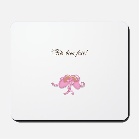 """Bravo"" Ballet Slippers Mousepad"