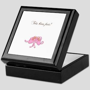 """Tres bien fait"" Ballet Slippers Keepsake Box"