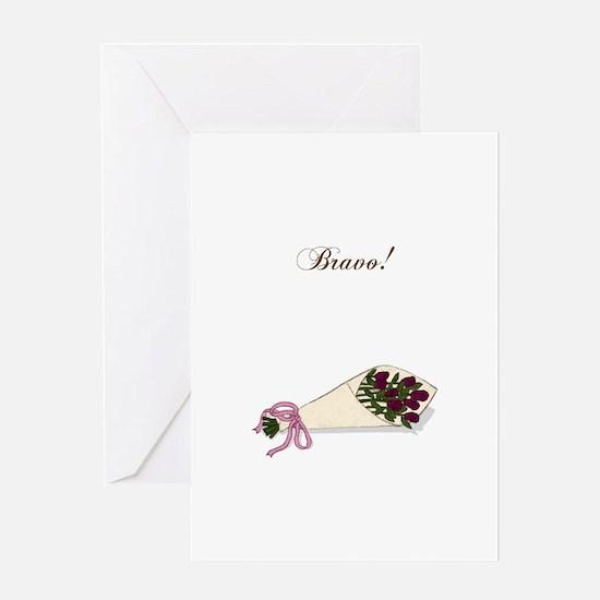 """Bravo"" Bouquet Greeting Card"