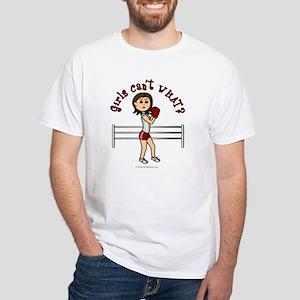 Light Red Boxer White T-Shirt