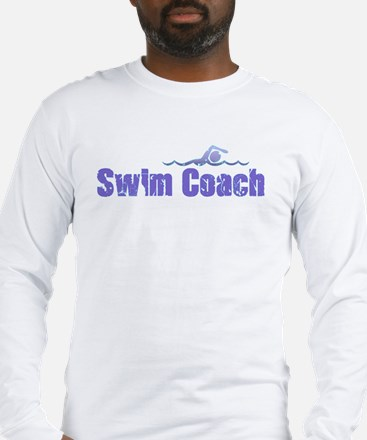SWIM COACH Long Sleeve T-Shirt